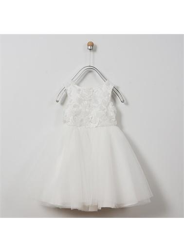 Panço Kız Çocuk Abiye Elbise 2011GK26054 Beyaz